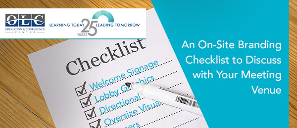 Checklist for branding opportunities