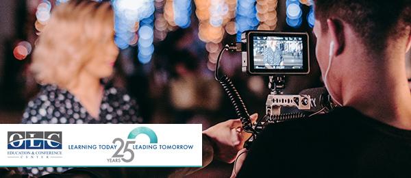 Videographer shooting a livestream video